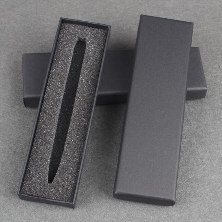 50pcs Black Office Pen Display Packaging Boxes blank Gift Jewelry Packaging Box accept customize logo pen