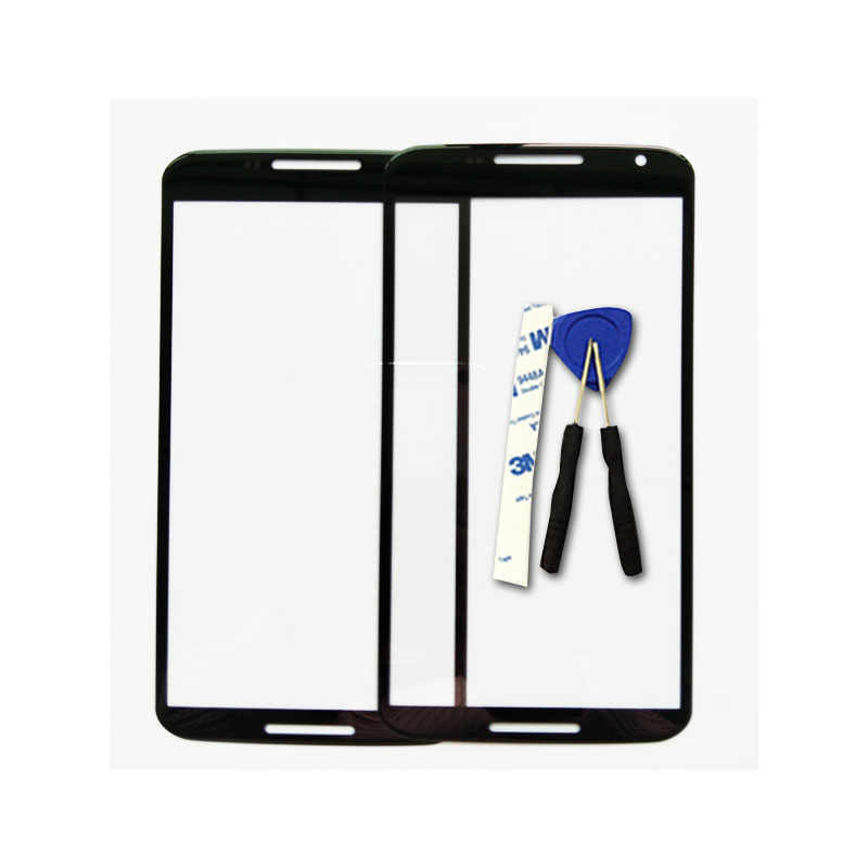 New For Motorola Google Nexus 6 XT1100 XT1103 Touch Screen Digitizer Front Outer Front Glass Lens Sensor Replacement Spare Parts
