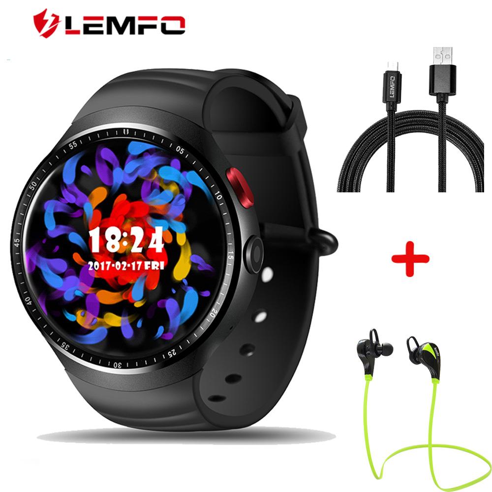 "Prix pour Lemfo LES1 smart watch téléphone avec 1 GB + 16 GB MTK6580 Android 5.1 OS 1.39 ""OLED 2.0MP HD Caméra bluetooth fréquence cardiaque samrtwatch"