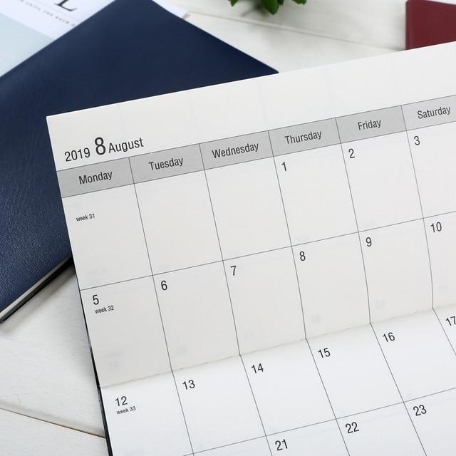 2019 calendar diary planner notepad, check list daily organizer