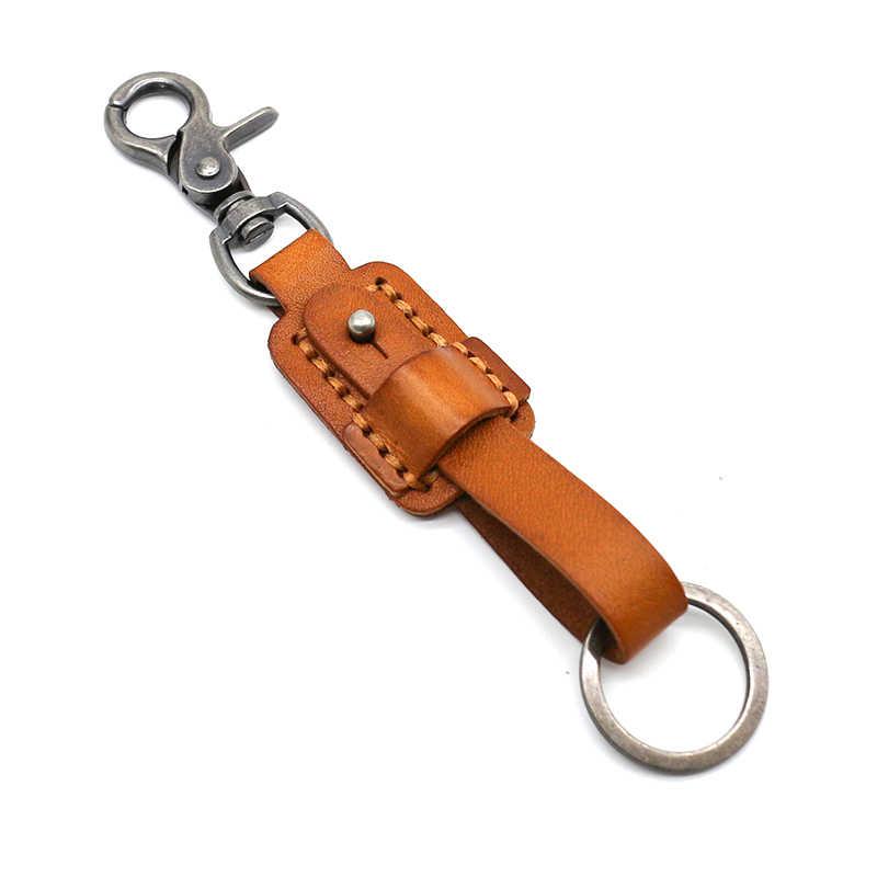 Мужской натуральный кожаный брелок металлический ключ для авто кольцо многофункциональный инструмент wo мужской брелок держатель для ключей