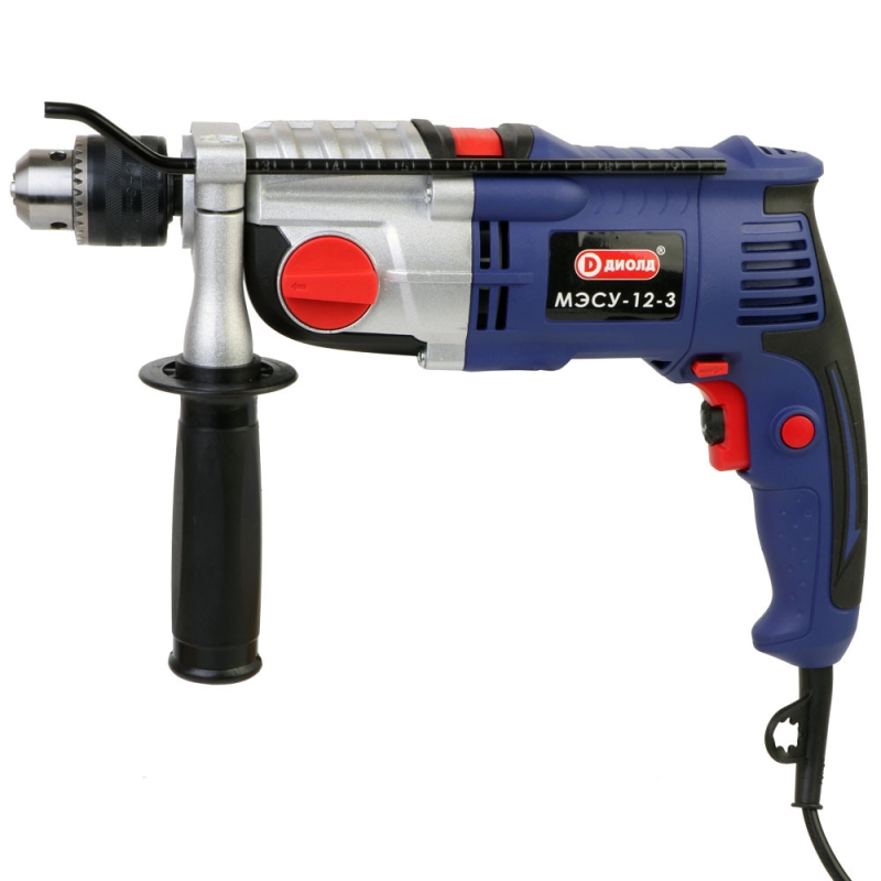 Impact drill Diold МЭСУ-12-3 (Power 1000 W, 2, 48000 strokes per minute, the reverse) тренажер lta 3 minute legs 1255