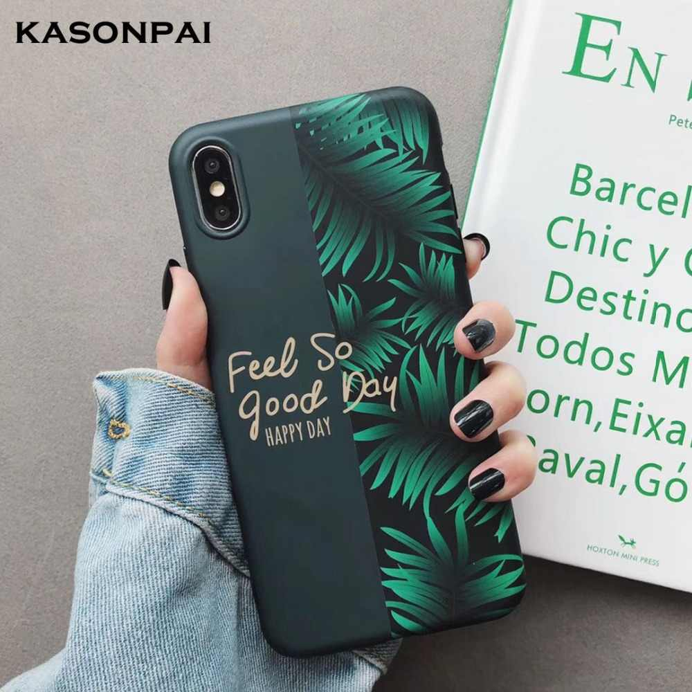 Green Leaves Spliced Cases For Huawei Mate 20 Mate10 P20 P30 Pro P10 Plus Nova 4 3 3i 2S Honor 10 9 Soft Matte Back Cover Case