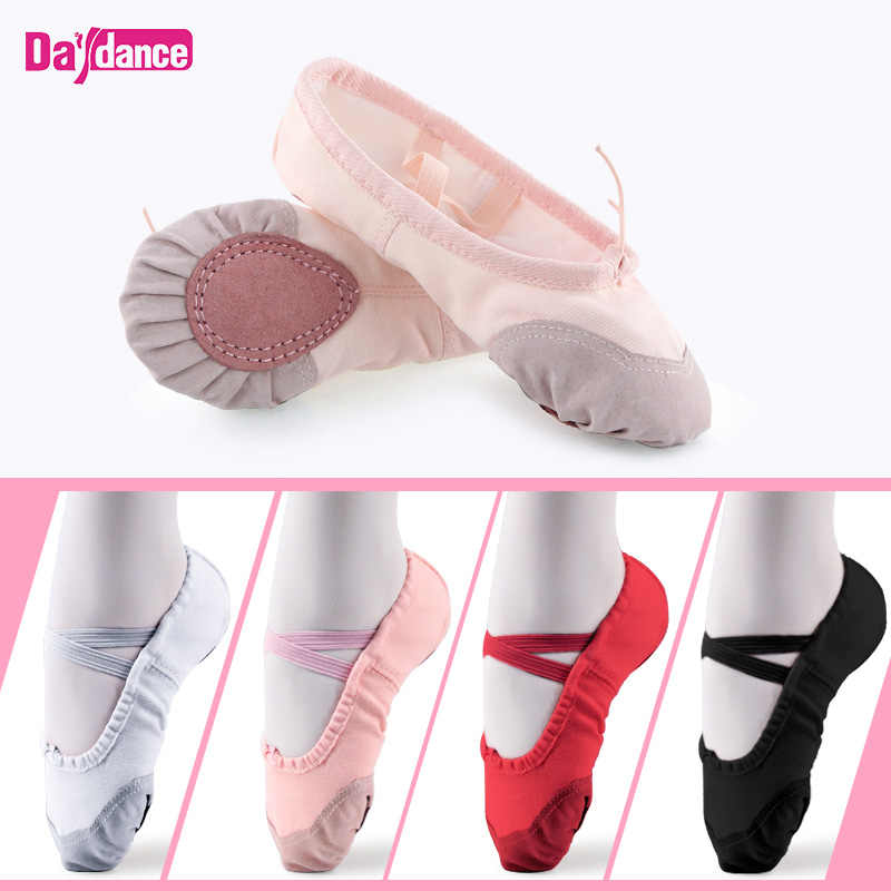 Women Ballet Slippers Red Soft Ballet Pointe Shoes Girls Kids Ballerina  Practice Dance Shoes 7c23dd7d037f