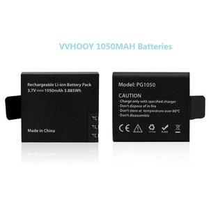 Image 2 - 5Pcs Originele Eken Batterij 1050Mah Eken Oplaadbare Li Ion Reservebatterij Voor Eken H9 H9r H8 H8r H3 H3r sjcam SJ4000 SJ5000X