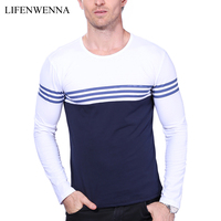 2015 Breathable Casual T Shirt Men 100 Cotton Long Sleeve V Neck Loose Tops Tees Autumn