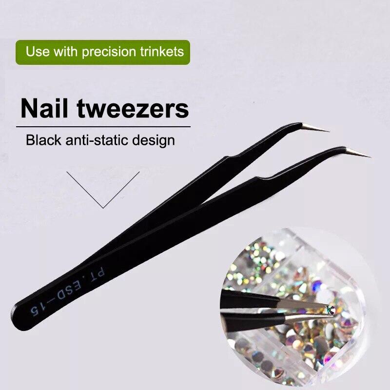 Outdoor Tools Camping & Hiking Smart Stainless Steel High Precision Black Curved Tweezer Diy Nipper Perler Bead Nipping Hama Bead Handicraft Clamp Plier