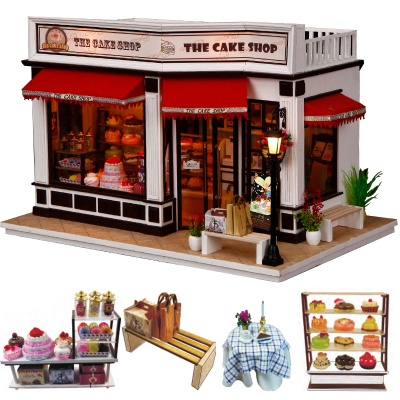 CUTEBEE DIY Dollhouse Wooden Doll Houses Miniature Doll House Furniture Kit Casa Music Led Toys For Children Birthday Gift K16