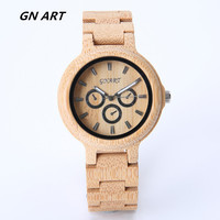 GNART Wood Watch Custom Wooden Watch Engrave Groomsmen Gift Boyfriend Father Wedding Gifts For New Year