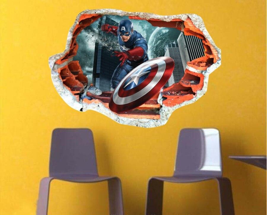 Colorful Superhero 3d Wall Art Crest - Wall Art Design ...