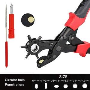 Image 5 - TRANVON Leathercraft ניקוב עבור עור חור אגרוף עבור חגורות תפרים Plier מחוררי חריר Piercer כלי מלאכת עור