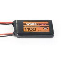 Capacity VOK 7 4V 1100mAh 25C 2S Lipo Battery JST Plug For RC Racing Quadcopter