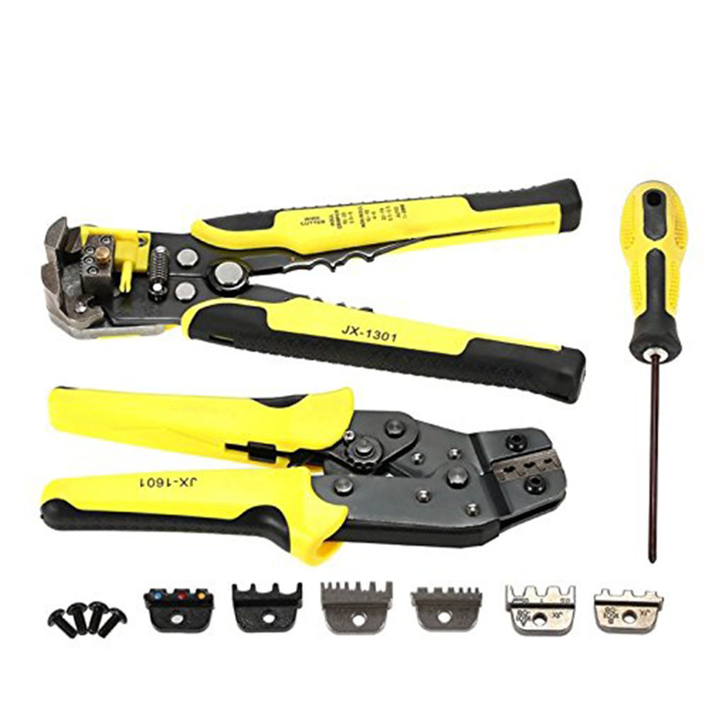 New 4 In 1 Wire Crimper Tools Kit Engineering Ratcheting Terminal Crimping Plier Wire Crimper/Wire Stripper/S2 Screwdiver T20 tqm in engineering education