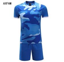 Football Uniforms Blank Short sleeves Men Soccer Jerseys Sets survetement football 2017 Training Suit Fitness clothing Jun66005