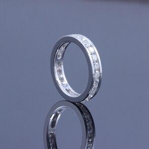 Image 5 - DovEggs 14K 585 Белое золото 1,6 карат ctw 2,5 мм Brillianct Lab выросший Муассанит с имитацией бриллианта свадебный браслет для женщин