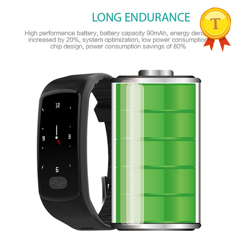 long standby Smart Bracelet PPG ECG Heart Rate Blood Pressure Monitor smart Band Waterproof Fitness Tracker