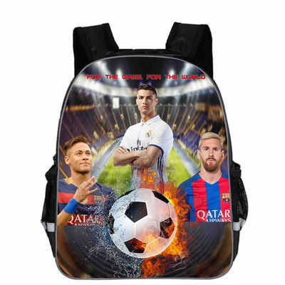 11 13 Inch Messi Bags Juventus Backpack Kids Cristiano Ronaldo School Backpack Boys Bookbag Children Schoolers Travel Gift 2018
