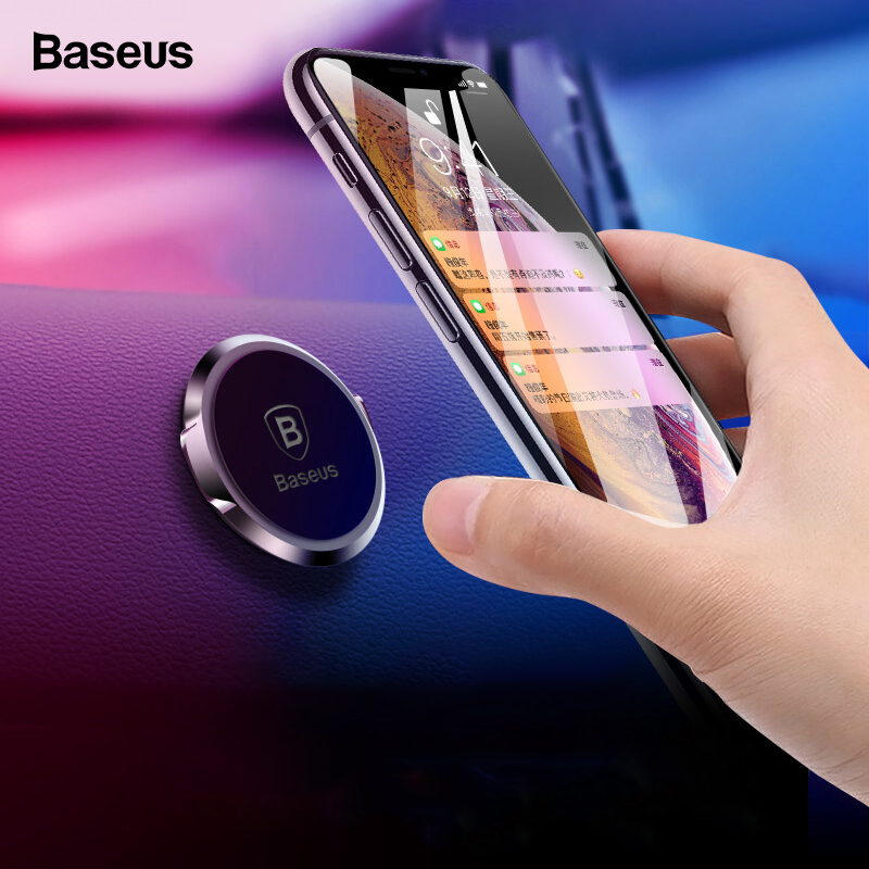 Baseus Car Holder For Phone in Car Magnetic Car Phone Holder For iPhone Samsung Huawei P30 Pro Magnet Mobile Phone Holder Stand in Phone Holders Stands from Cellphones Telecommunications