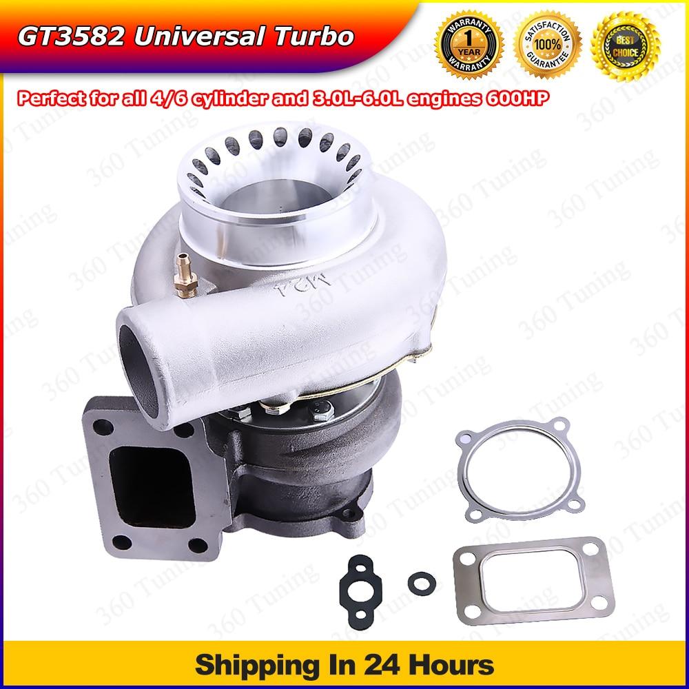 Prix pour GT35 GT3582 Turbo pour R32 R33 R34 RB25 RB30 T3. 70 A/R. 63 A/R Turbocompresseur 4/6 Cylindre 3.0L-6.0L Refroidi À L'eau GT3540