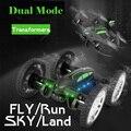 Nova RC Drone com wifi cam 2.4G 2 Modelo de Controle Remoto Quadcopter 2 em 1 carro ar-terra voando drones dupla propor rc car toys