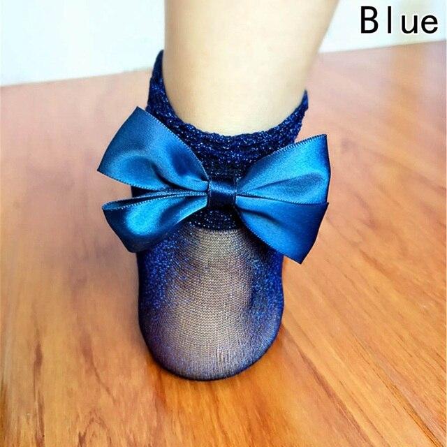 Bow Tie Cute Glitter Bow Knot Socks 4