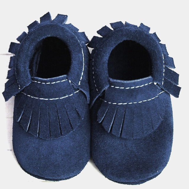 2016 suede Genuine Leather soft baby moccasins shoes newborn Toddler fringe Shoes Infant Christmas gift