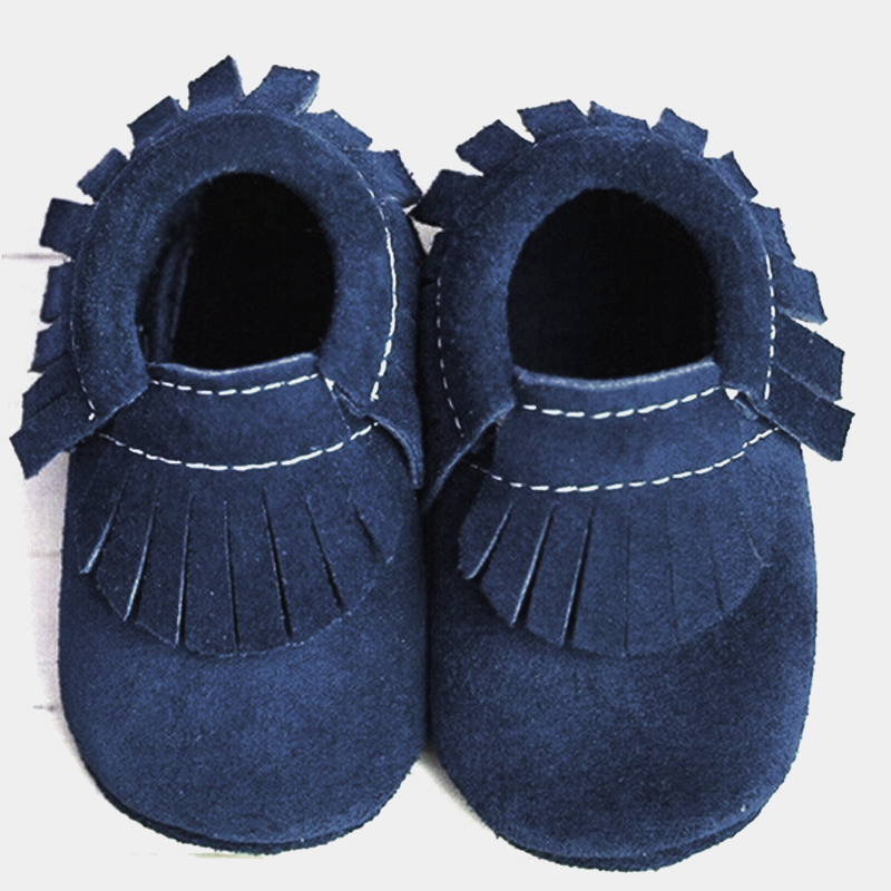 2017 suede Genuine Leather soft baby moccasins shoes newborn Toddler fringe Shoes Infant Christmas gift