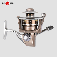 DEBAO Full Metal Spinning Fishing Reel Stainless Steel Wheel Feet Super Coil Body KM1000-7000 Series 13BB Peche Pesca