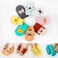 1 лот = 5 pairs 2016 весна лето Симпатичные Cotton Мультфильм Новорожденный Младенцы Bebe Носки девочка мальчик носки