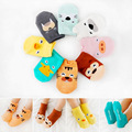 1 lote = 5 pares 2016 primavera verão de Algodão Bonito Dos Desenhos Animados Do Bebê Recém-nascido Crianças Bebe menino Meias menina meias