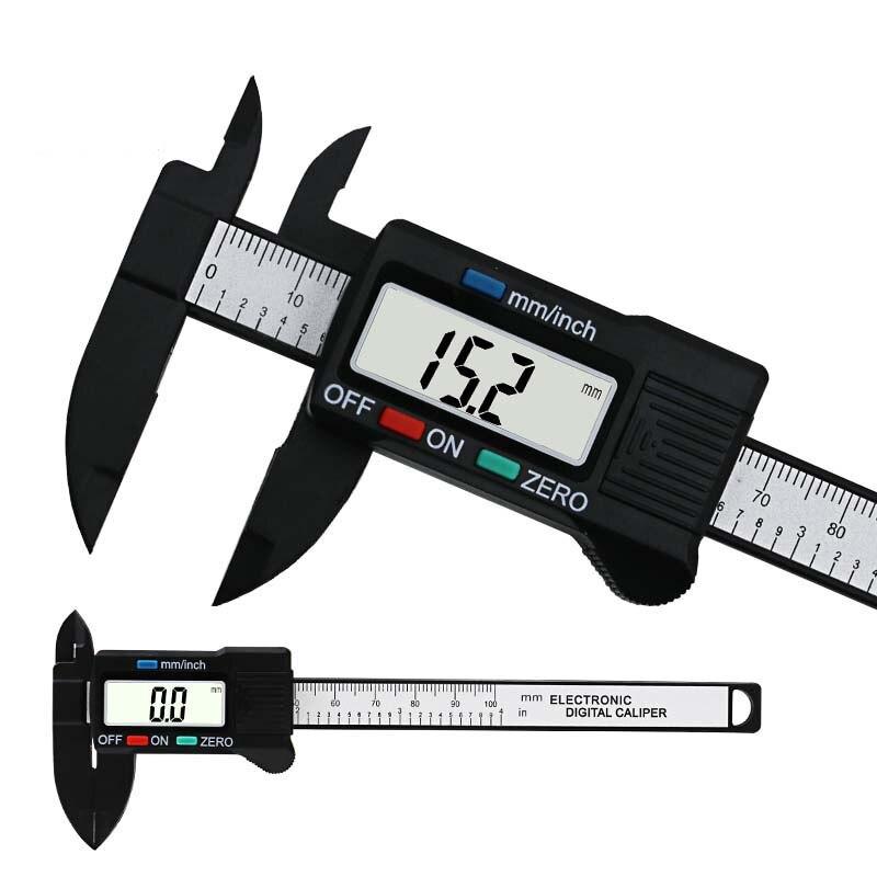 4inch LCD Digital Electronic Caliper Vernier Carbon Fiber Gauge Micrometer Tool