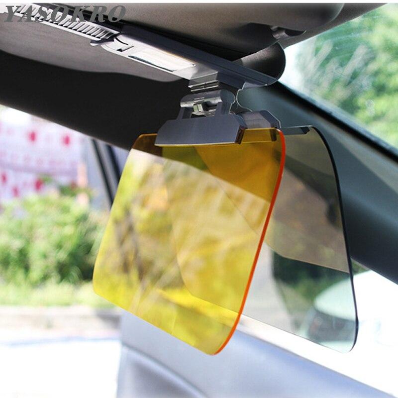 รถ Sunshade Day และ Night Sun Visor Anti-Dazzle Goggles Clip-on รถ SHIELD สำหรับดู visor