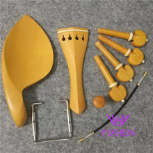 6 sets 4/4 violin boxwood fittings parts accessories England tailpiece chinrest endpin 4 pegs fittings,violin parts