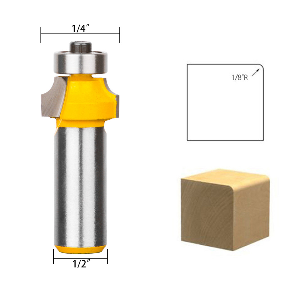 1//4 Inch Shank Carbide Router Bit Round Over Edging Router Bit Woodworking NEW