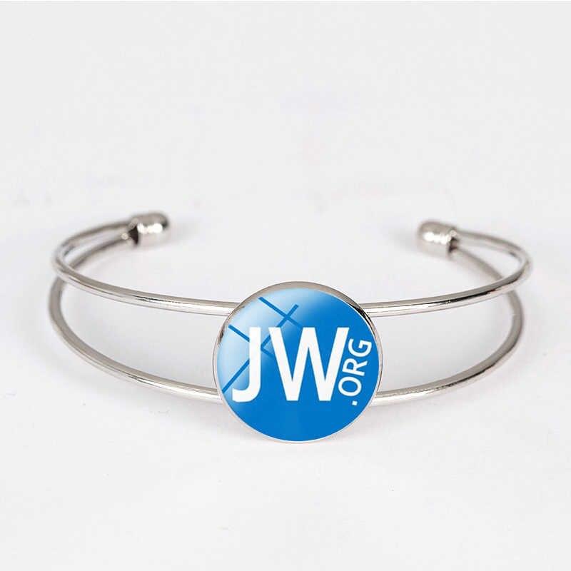 Suteyi Fashion Keyakinan Gelang JW ORG Permata Kaca Liontin Saksi-saksi Yehuwa Buatan Tangan Perhiasan Pria Wanita