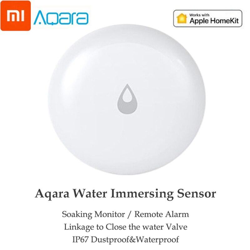 Xiaomi mijia aqara sensor de imersão de água de inundação detector de vazamento de água inteligente controle remoto alarme de segurança sensor imersão