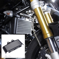 Motorcycle Black Grill Radiator Guard Cover Protector For 2014 2017 BMW R Nine T R9T R1200R 2015 2016
