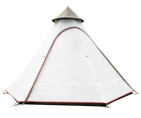 Nouveau 3-4 personnes pyramide aluminium tige étanche famille tipi partie Gazebo conduite abri soleil plage auvent extérieur Camping tente