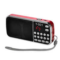 ЖК-цифровой Авто Мини fm-радио динамик USB Micro TF карта Mp3 музыкальный плеер