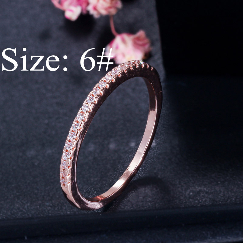 rose gold size 6