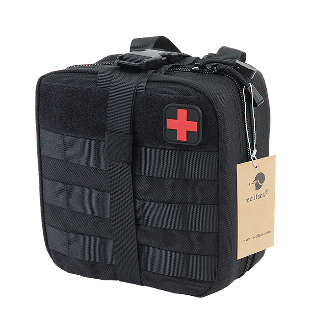 TACTIFANS First Aid Pouch Patch Bag Molle/Hook & Loop Dual-use Amphibious Medic Pouch EMT Emergency EDC Rip-Away Survival IFAK