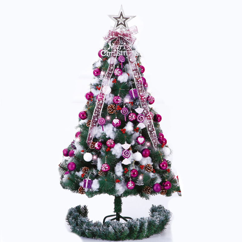 Christmas Tree Sweden: Purple Luxury Christmas Tree Set Freeship To USA Italy