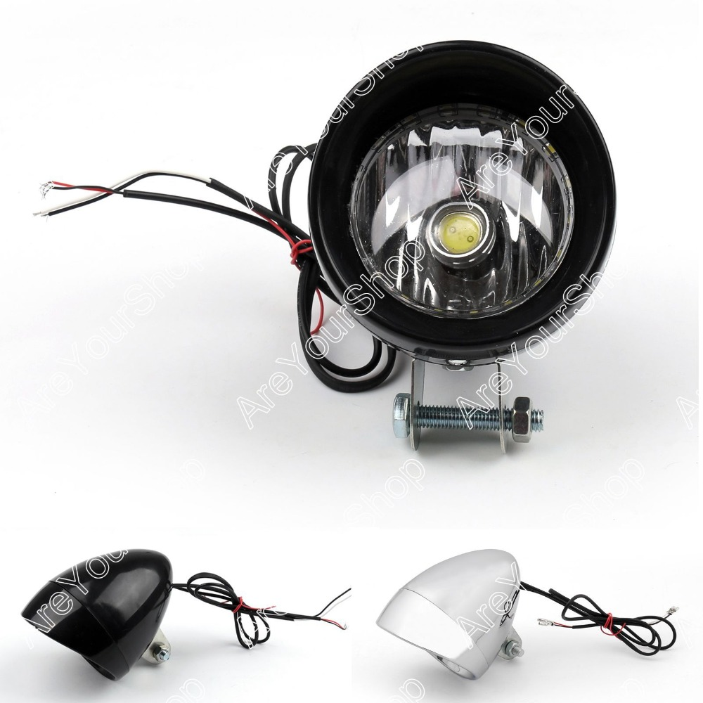 Areyourshop Moto Universelle LED Angel Eye Phare Phare Remplacement Conduite Moto Brouillard Lumière COB pour Harley Dyna Glide