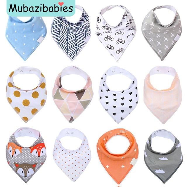 Baby Bib 2017 New Waterproof Saliva Scarf Fashion Print Baby Towel Baberos Bebes Soft Cotton Bibs Burp Cloths Accessories