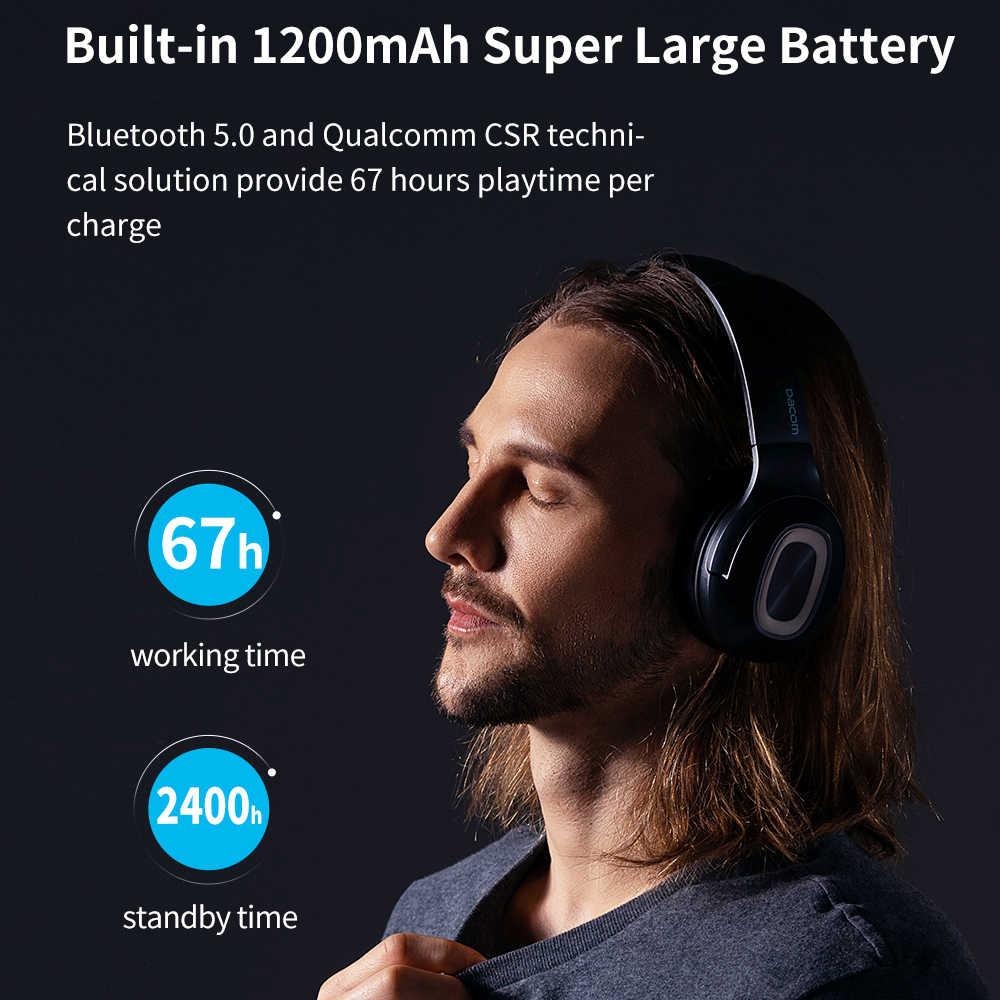 DACOM HF002 zestaw słuchawkowy bluetooth przewodowe bezprzewodowe słuchawki stereo wbudowany mikrofon podwójny sterownik 4 głośnik do telewizora iPhone Samsung Xiaomi