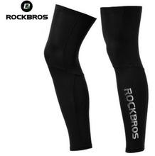 ROCKBROS Anti UV400 Cycling Leg Warmers Compression Knee Pad Protector Sleeves Outdoor Sports Safety Soccer Running Leggings