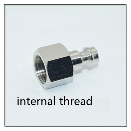 1PCS Pure copper internal thread pneumatic quick-connect <font><b>male</b></font> MINI European pneumatic quick connect <font><b>Male</b></font> joint 1/8 1/4 <font><b>3/8</b></font> <font><b>1/2</b></font> image