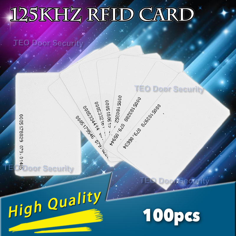 125khz em4100 door entry access blank white proximity rfid clamshell thick card thickness 1 9mm pack of 10 100pcs 125Khz ID RFID Proximity Cards Thickness High-quality Brand New Door Control Entry Access EM card 0.9mm