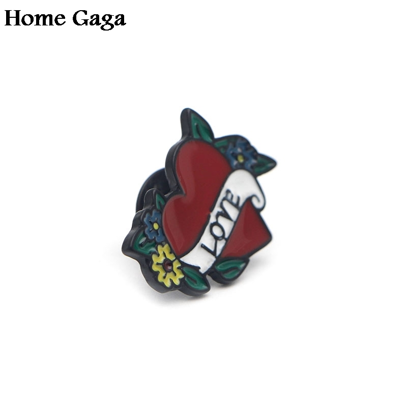 20pcs/lot D0548 Homegaga Love Heart jewelry cute Acrylic Craft brooches Clothing Garment Pins badges for birthday jewelry gifts