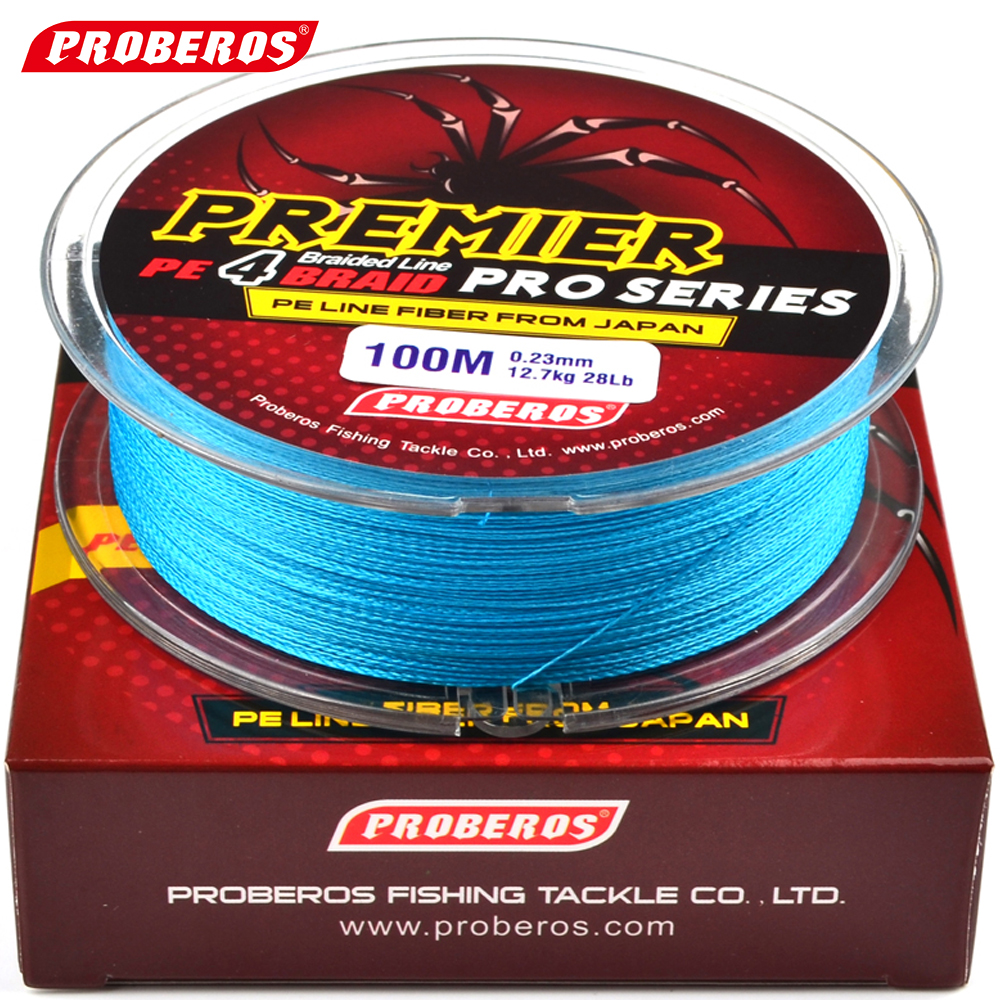 100m fishing line proberos brand red green grey for Red fishing line